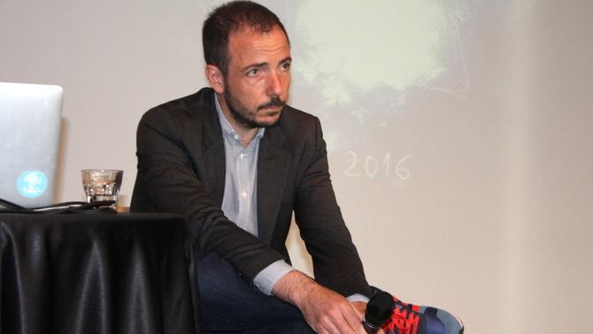Jaume Ripoll, director del Festival y cofundador de Filmin, el 30 de maig del 2016, durant la presentació de la sisena edició del certamen (horitzontal).