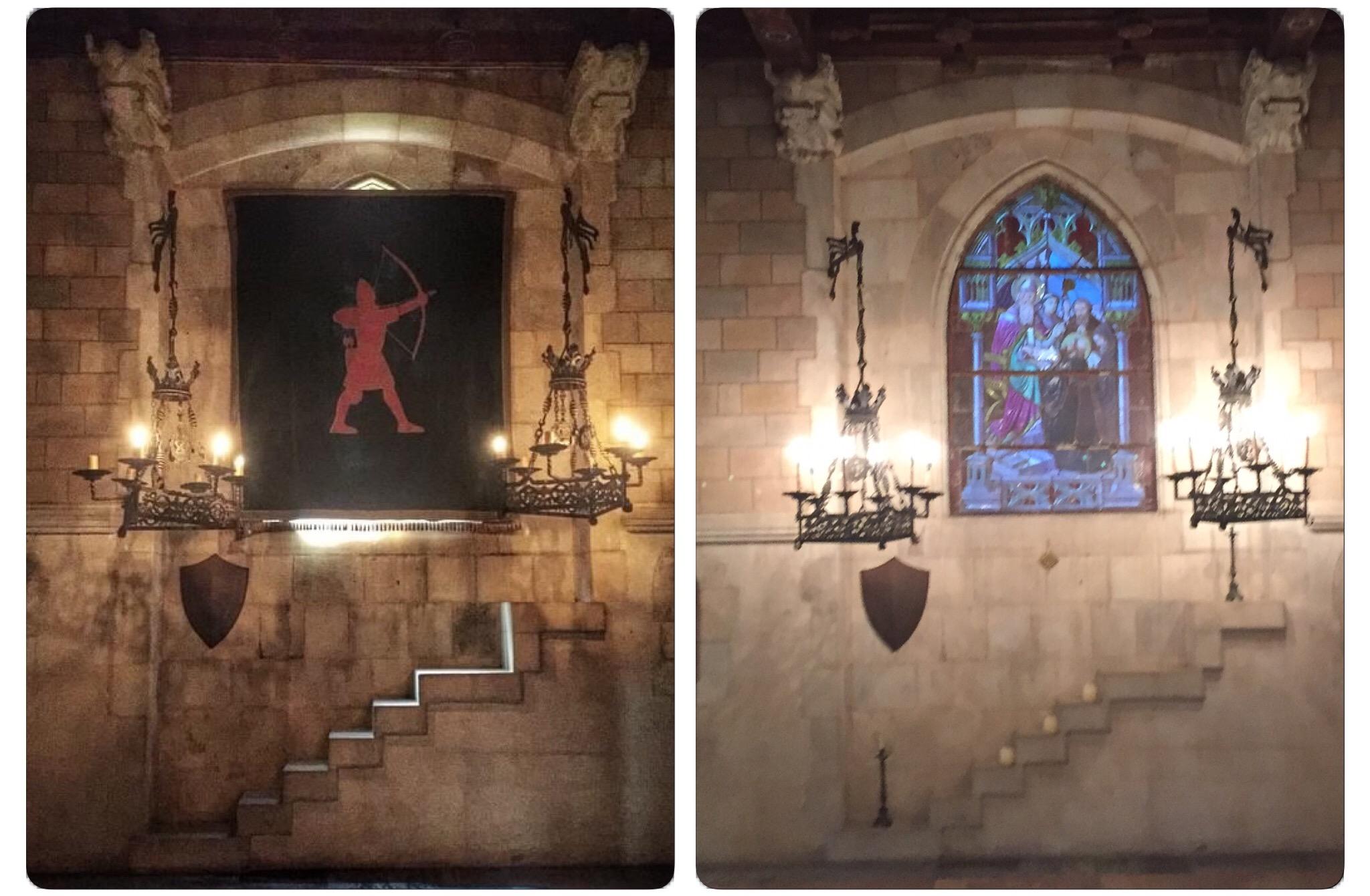 L'escut de la Casa Tarly tapa els vitralls