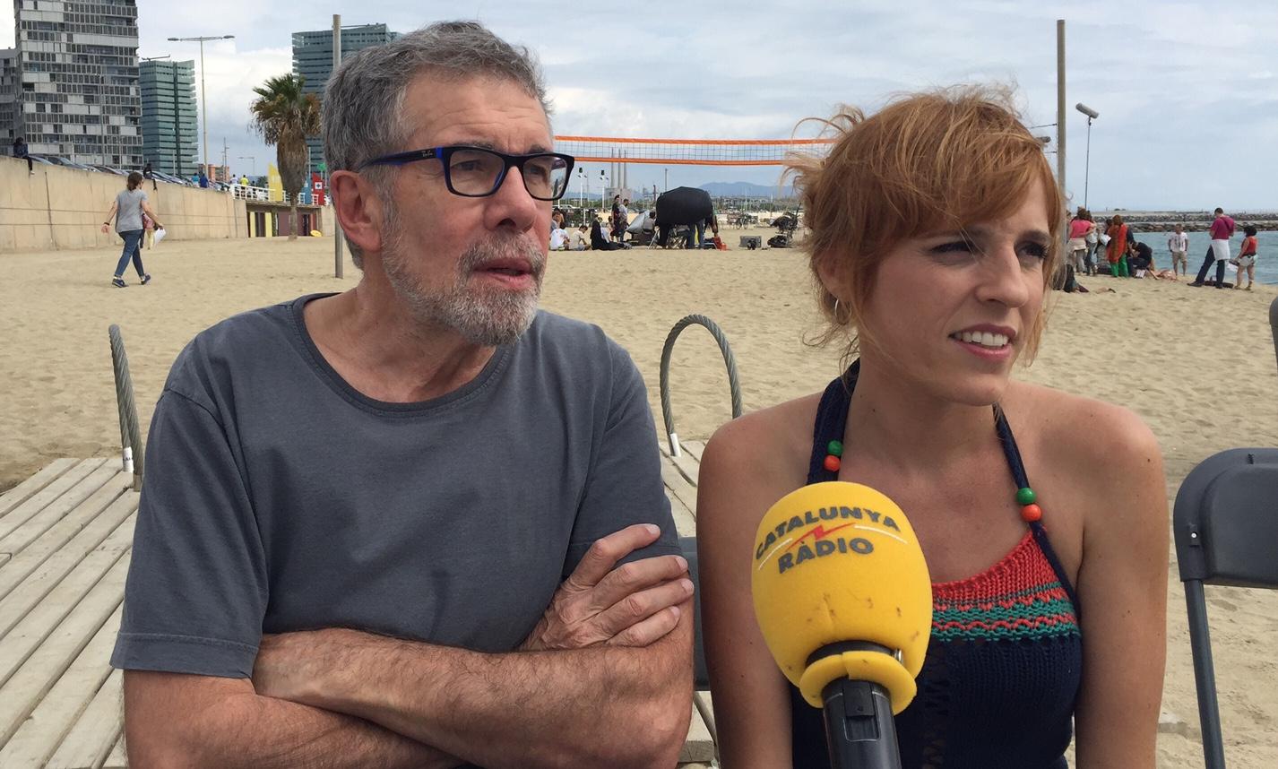 Lluís Soler i Sara Espígul al rodatge de la sèrie
