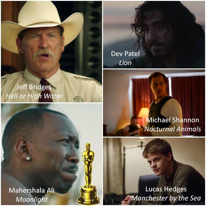Millor Actor de Repartiment Oscars 2017