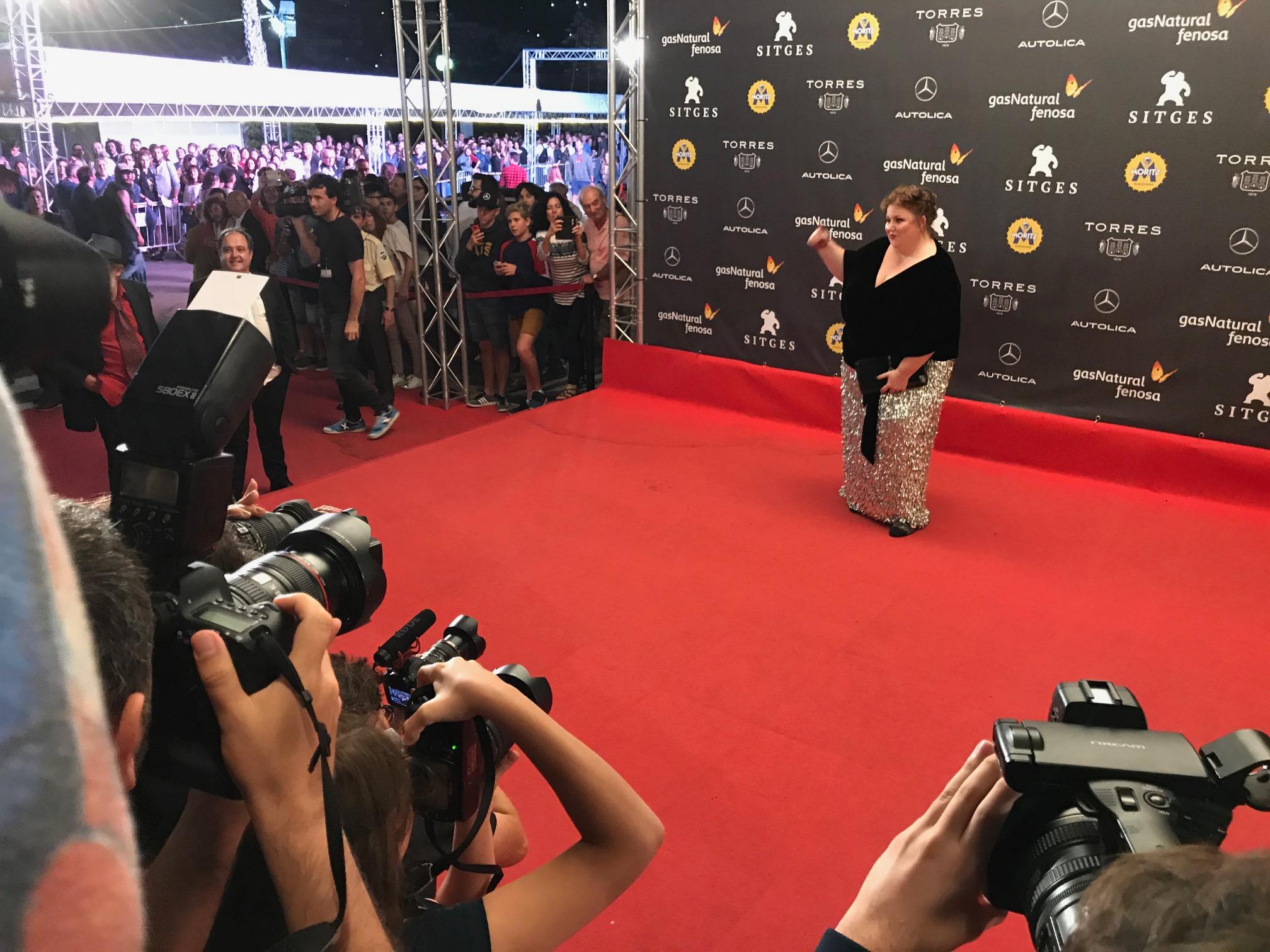 L'actriu Itziar Castro a punt de presentar el film 'Matar a Dios'