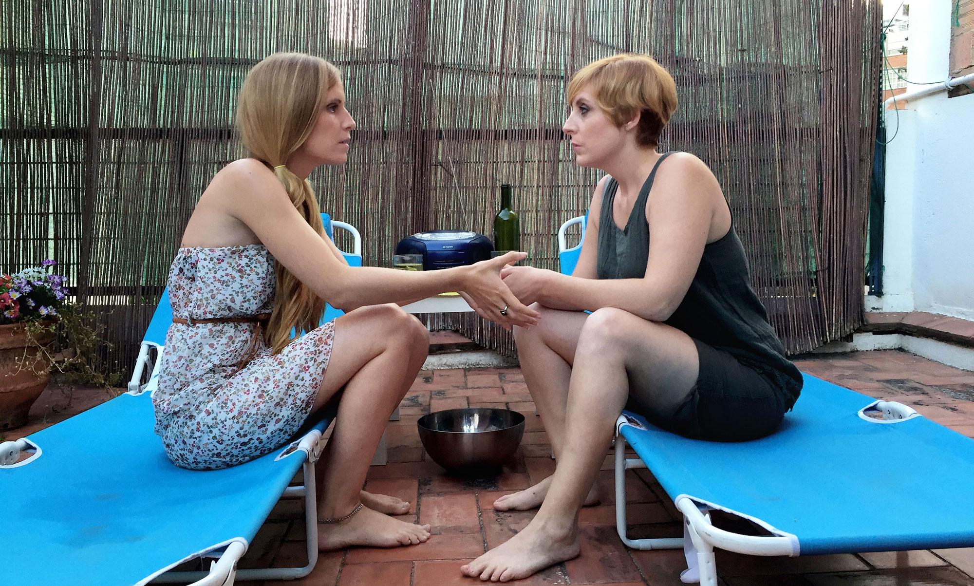 Humans Laura Estévez (Mònica) y Lara Vacas (Ariadna)